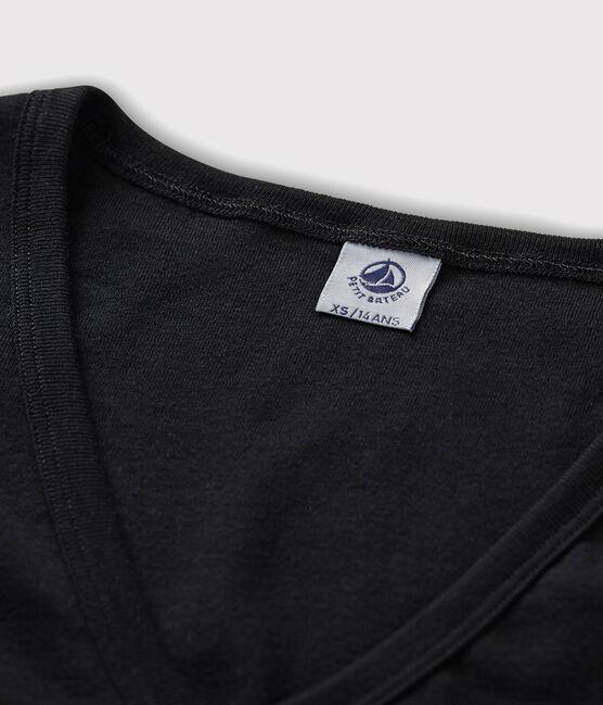 Women's iconic V-neck T-shirt Noir black