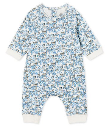 Baby Boys' Long Ribbed Jumpsuit Marshmallow white / Multico white
