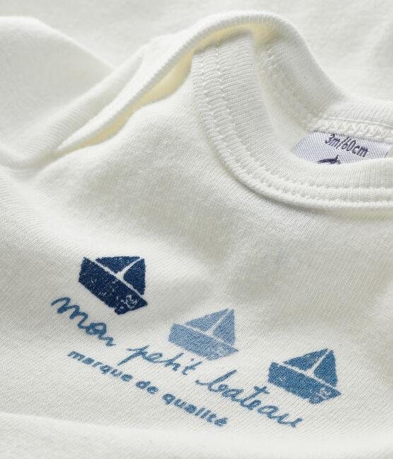 Baby boys-girls' short-sleeved bodysuit Marshmallow white