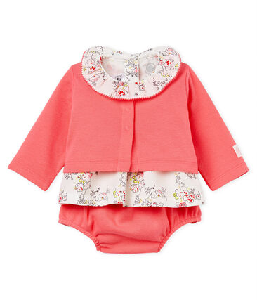 Baby girls' print clothing - 3-piece set