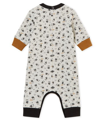 Baby boy's long print snowsuit