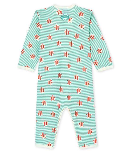 Unisex Baby's Footless Ribbed Sleepsuit Marshmallow white / Multico white