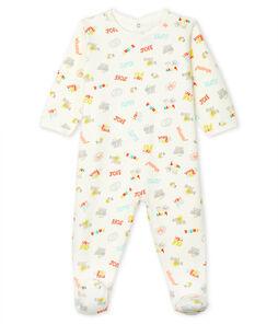 Babies' Fleece Sleepsuit Marshmallow white / Multico white