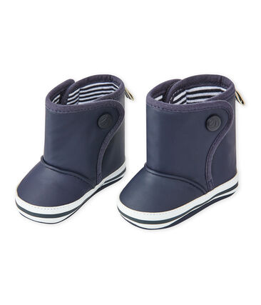 Unisex baby waxed bootees