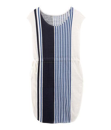 Women's linen short-sleeved dress