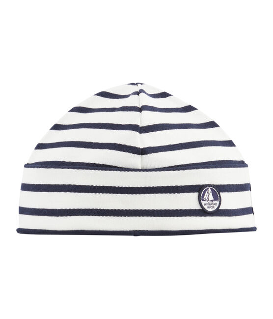 Women's hat Coquille beige / Smoking blue
