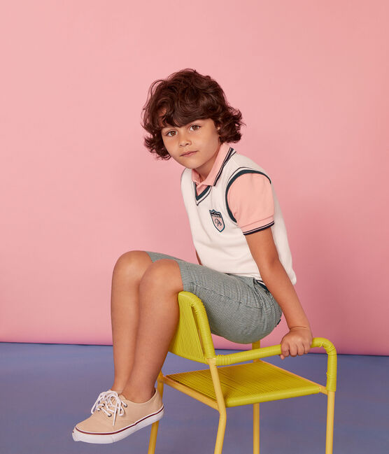 Boys' Sleeveless jumper Marshmallow white / Multico white