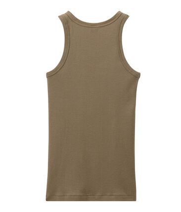 Women's vest top in heritage rib