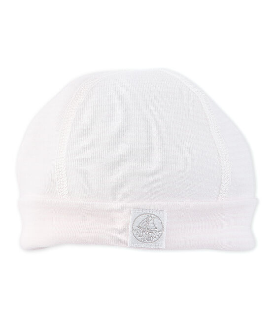 Newborn baby milleraies-striped beanie Vienne pink / Lait white