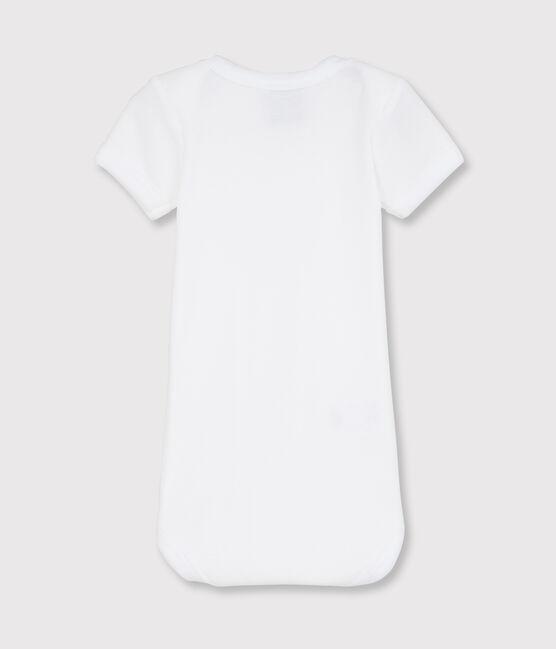 Babies' White Short-Sleeved Bodysuit Ecume white