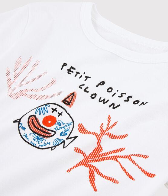 Serge Bloch child's T-shirt Ecume white