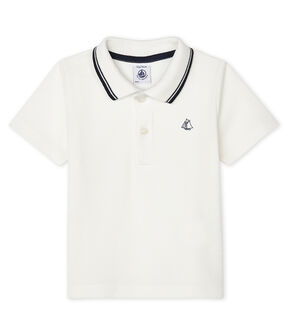 Baby Boys' Short-Sleeved Polo Shirt Marshmallow white