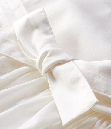 Baby Girls' Satin Short-Sleeved Dress Marshmallow white