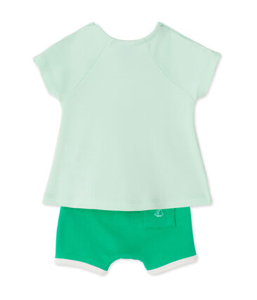 Baby girls' shorts and tee set