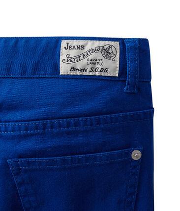 Boy coloured denim trousers