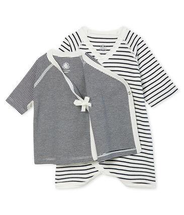 Baby Kimono Bodysuit and Undershirt in Rib Knit