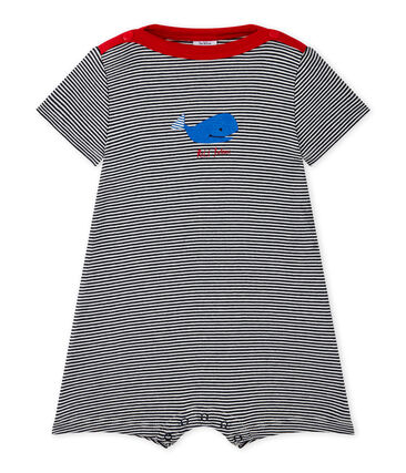 Baby boys' striped romper