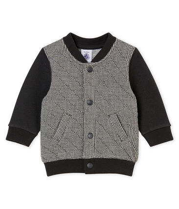 Baby boy's herringbone cotton tubic cardigan