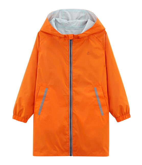 Unisex Children's Warm Reversible Windbreaker Carotte orange / Fontaine blue