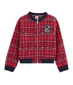 Girls' Tartan Baseball Jacket