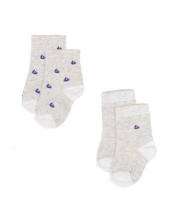 Set of 2 pairs of socks for baby boys Beluga grey