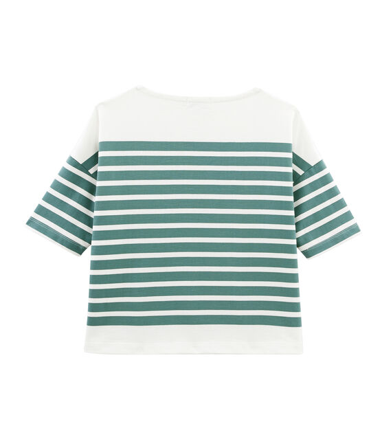Women's Sailor Top Brut blue / Marshmallow white