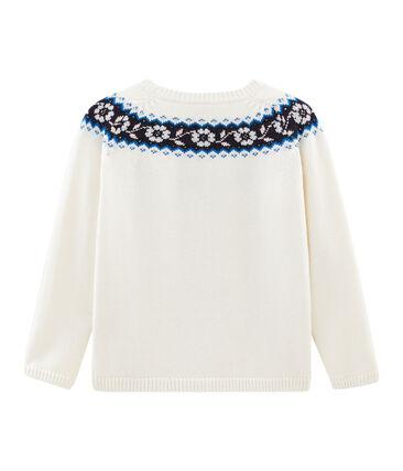 Girls' Pullover Marshmallow white / Multico white