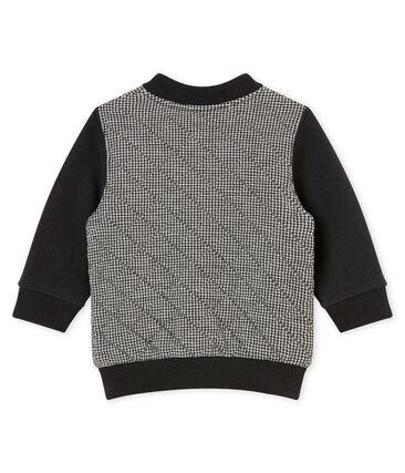 Baby boy's herringbone cotton tubic cardigan