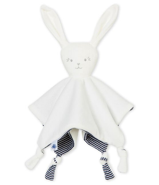 Rabbit comforter in milleraies stripes Marshmallow white