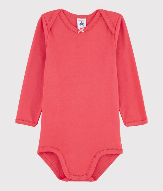 Baby Girls' Long-Sleeved Bodysuit Signal red