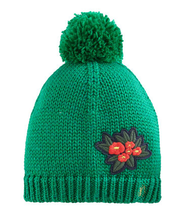 Girls' Woolly Hat Ecology green