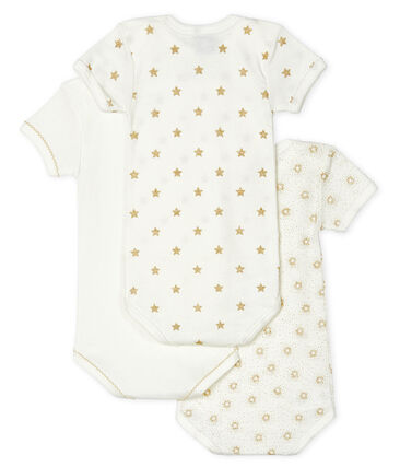 Baby Girls' Short-Sleeved Bodysuit - 3-Piece Set . set