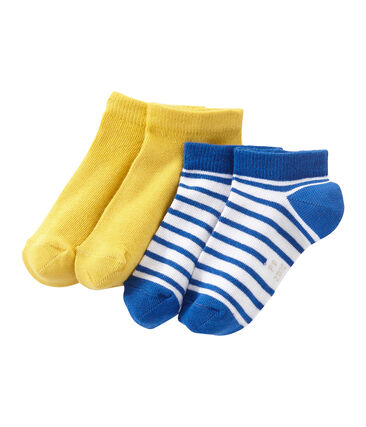 Set of 2 pairs of boy's ankle socks