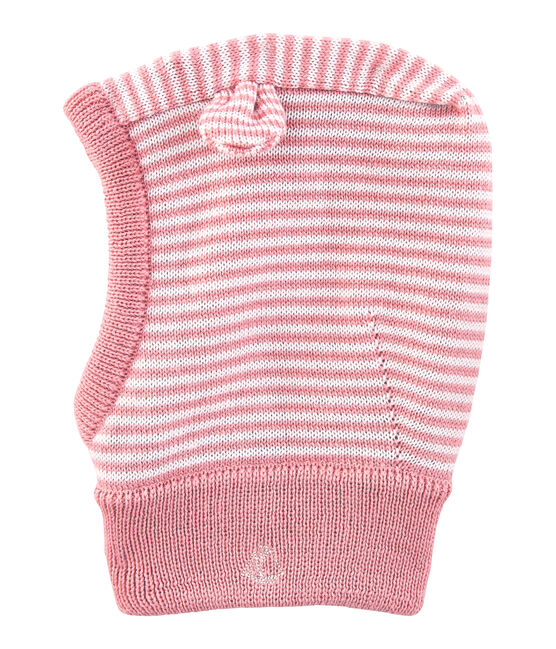 Unisex Baby Balaclava Charme pink / Marshmallow white