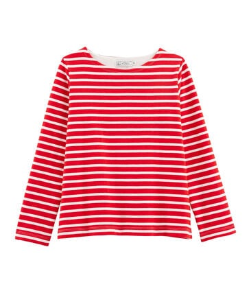 Women's Sailor Top Peps red / Marshmallow white