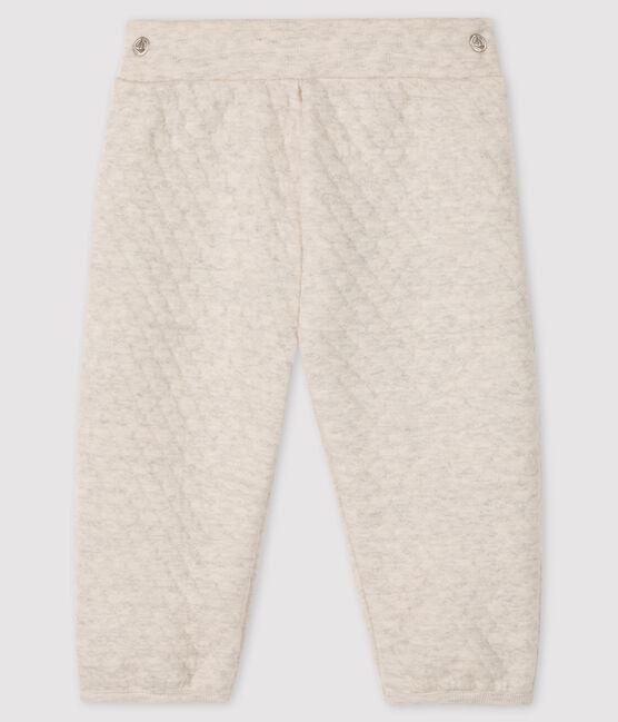 Baby girl's tubular knit trousers Montelimar Chine grey