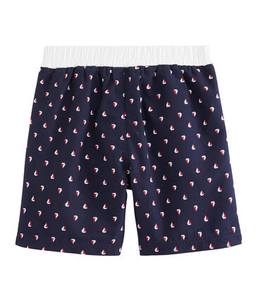 Boys' Beach Shorts Submarine blue / Multico white