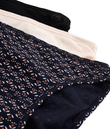 Set of 3 pairs of women's light cotton pants