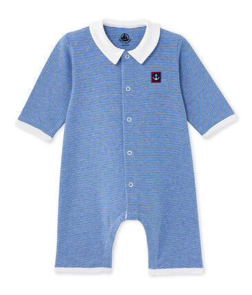 Baby boy milleraies-striped all-in-one