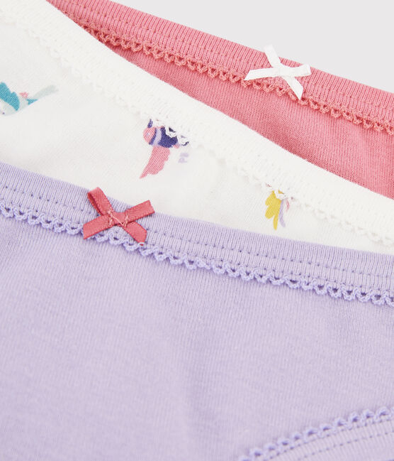 Girls' Bird Print Knickers - 3-Piece Set . set