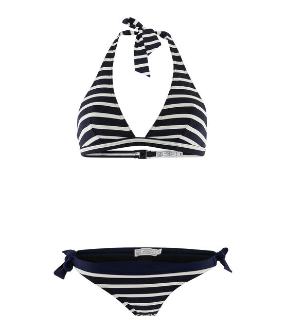 Two-Piece Swimsuit Smoking blue / Marshmallow white