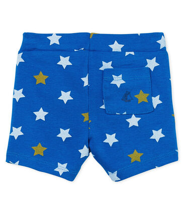 Baby boys' printed shorts Riyadh blue / Multico white