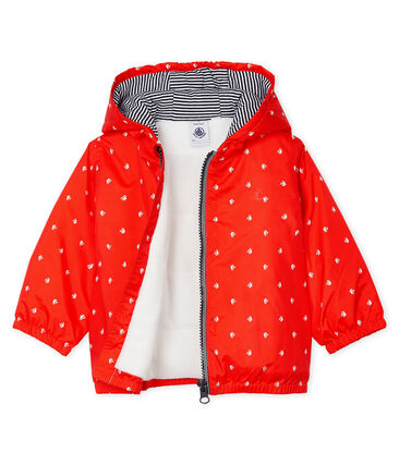Unisex Baby's Fleece-Lined Jacket Spicy orange / Marshmallow white