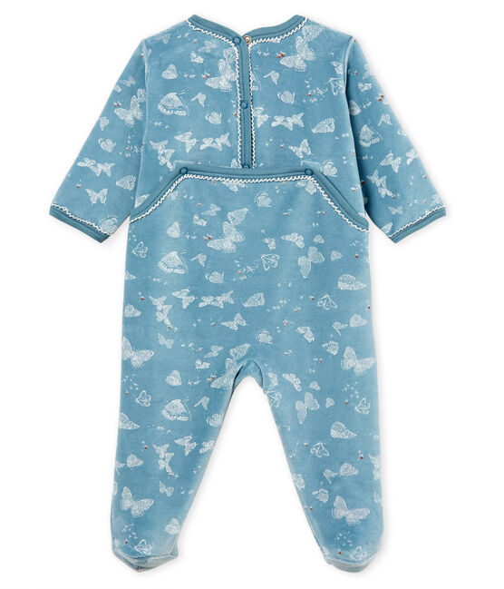 Baby Girls' Sleepsuit Fontaine blue / Marshmallow white