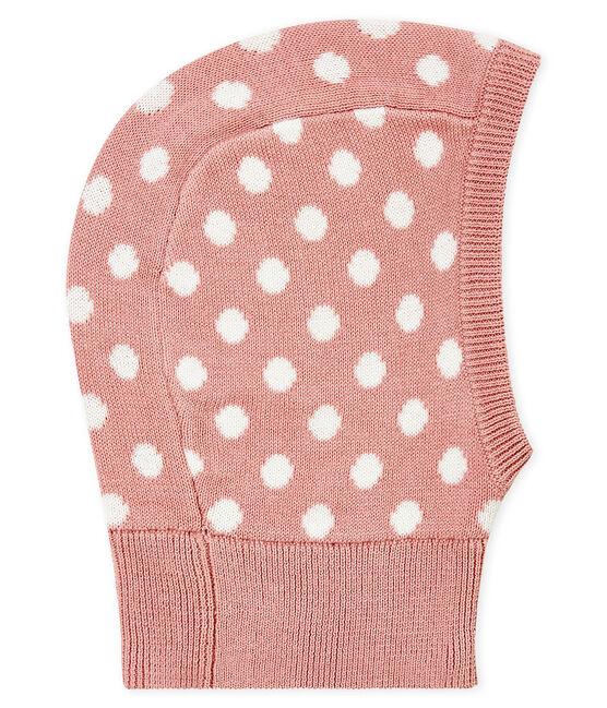Mixed baby's decorated balaclava Joli pink / Marshmallow white