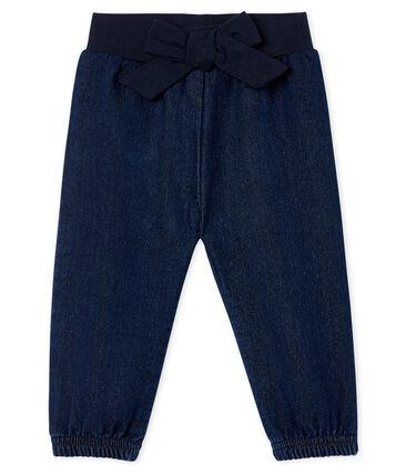 Baby Girls' Denim Look Trousers
