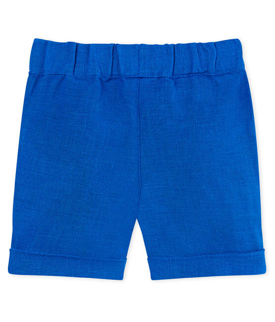 Baby boys' linen shorts Riyadh blue