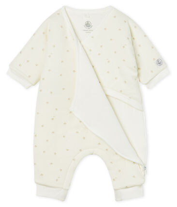 Babies' Long Jumpsuit in Padded Rib Knit