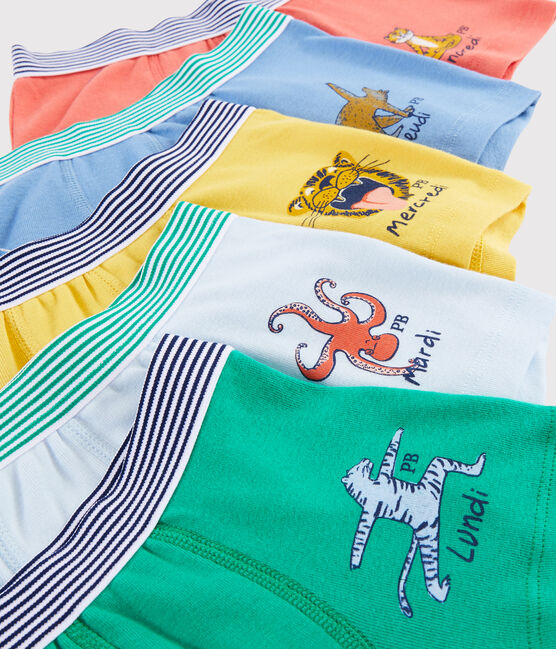 Boys' Yoga Animals Boxer Shorts - 5-Piece Set . set