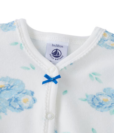 Baby girls' print velours sleepsuit
